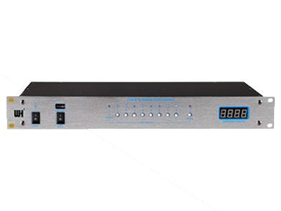 威皇 SP-801 電源時序器 適用于:娛樂工程系列、演出工程系列、會議工程系列(大功率線陣系列,可帶6~7臺1000W~2500W功放);可選配USB線連接電腦控制功能。