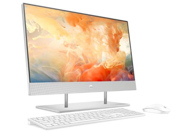 惠普(HP)27-dp051scn i5-10400T/8G/512G SSD/MKX330 2G/无线键鼠/72\%/可升降摄像头/银色