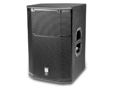 JBL  PRX415頻率范圍 (-10 dB):55 Hz – 19 kHz 頻率響應 (+3 dB):66 Hz – 16 kHz 覆蓋角度:90° x 50° nominal 靈敏度:98 dB SPL (1w@1m) 功率(粉噪):300 W / 600 W / 1200 W (連續/節目/峰值) 最大聲壓級:122 dB SPL cont. (129 dB SPL peak) 阻抗:8 ohms 尺寸 (H x W x D):650 mm x 429 mm x 457 mm (25.6