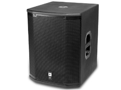 "JBL  PRX418S 頻率范圍 (-10 dB):35 Hz – 250 Hz 頻率響應 (+3 dB):52 Hz – 120 Hz 靈敏度:95 dB SPL (1w@1m) 功率 (粉噪):800 W / 1600 W / 3200 W (連續/節目/峰值) 最大聲壓級:130 dB SPL peak 阻抗:8 ohms 尺寸 (H x W x D):678 mm x 536 mm x 615 mm (26.7"" x 21.1"" x 24.2"") 凈重:36 kg (79 lbs.)"