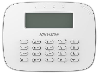 海康威视 DS-RK-L 总线报警系列 可以对报警主机进行操作和编程,通过指示灯和报警音提示报警。带R型号搭配遥控器可实现远程遥控布撤防