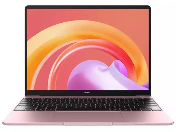 华为笔记本电脑MateBook 13 2021款 13.0英寸 11代酷睿i5 16G 512G 锐炬显卡/2K触控轻薄本/多屏协同 樱粉金