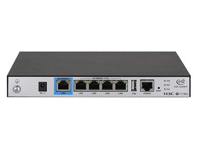 H3C G304-P 端口形態  1GE WAN + 4GE LAN(支持POE供電) 帶機量  推薦100~150臺終端 AP授權  默認管理4,可拓展至8