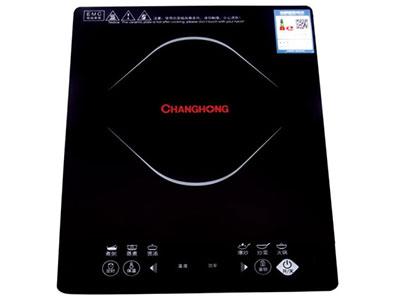 长虹电磁炉ML-CC21-C01,镜面优质黑晶版,防滑、耐刮,八档火力调节,可蒸,煮,焖,炖,火锅