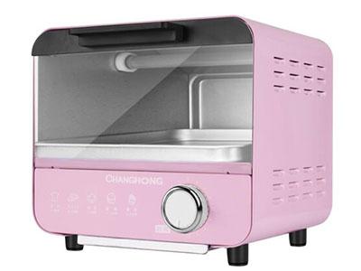 长虹电烤箱(迷你烤箱)KX05-A1,双石英管立体加热,上下热量对流,加热更加均匀,立方体内胆设计