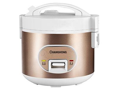 长虹电饭煲(机械式)CFB-X30E02,精选不沾内胆,使用方便,易清洗,强对流立体加热食物受热更好