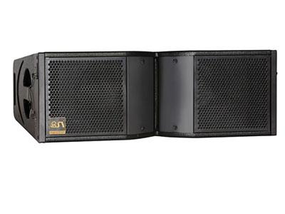 "QSN              (英国)LA208双8寸线阵 ""•低音喇叭 : 2×8"""" (铷磁Φ65mm)   •高音喇叭 : 1×3"""" (铷磁Φ75mm)   •频响 (±3dB) : 55Hz-20kHz   •阻抗:8欧   •额定/峰值功率:500W/2000W •灵敏度 : 98dB   •最大声压SPL: 127dB"