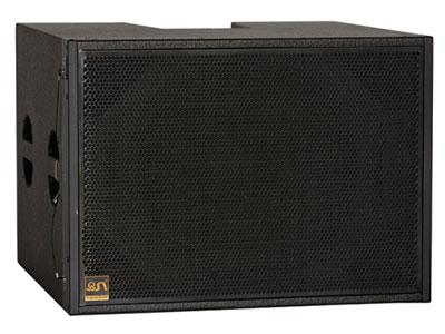 "QSN              (英国)LA208A单18寸配套低音 ""•低音喇叭 : 1×18"""" (铷磁Φ100mm)    •频响 (±3dB) : 32Hz-400Hz   •额定/峰值功率:800W /3200W •阻抗:8欧 •灵敏度 : 98dB   •最大声压SPL: 128dB  •分频点:120HZ"