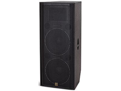 "QSN/韵强/英国)H215专业音箱 "" 三分频三驱模式设计, 大号角远距离扩声,有效扩展了中频的工作带宽,优化了相位响应及瞬态特性。结合材料传输特性、频率交叠特性以及分频滤波等多种特性优化匹配,实现了与低频单元的完美结合。使整个扬声器系统的频响特性和相位响应大幅提升。在主观听感上,使系统的解析度和声像定位均取得上佳表现。是户外中小型流动性演出上佳选择。    •低音喇叭 : 2×15"""" (190磁Φ75mm)   •高音喇叭 : 1×3"""" (Φ75mm)   •频响 (±3dB) : 40Hz-"