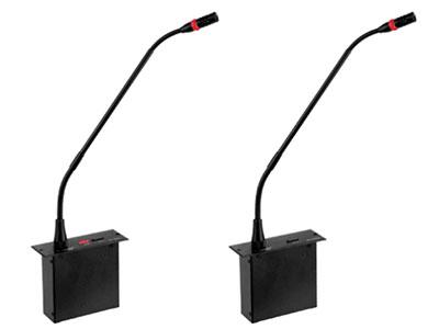 "QSN/韵强/英国)BL-6010c主席代表 ""  嵌入式安装,可拔插双软咪管    采用全新数控化设计    具有麦克风具有发言键与指示灯,可控制/指示本机状态    单指向性,具防气爆音功能,配有防风防护罩    可绕式电容麦克风杆,并具有发言指示光环    麦克风灵敏度高    单元由统主机供电,输入电压18V属安全范围    具有自动机功能,开启的麦克风在没有拾音的状态下(拾音范围内声音低于50dB时)45秒将自动关闭    单元采用8芯线""T""型连接    BL-XXXXSd/BL-XXXXSd具有自动视像跟踪功能"
