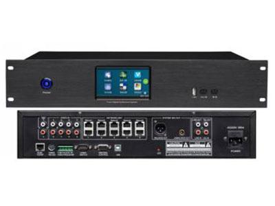 """澳雅声   A-9700PH-RJVTRJ45全彩触摸屏网传表决主机 """"投票/表决/签到/视像跟踪讨论网络数字会议系统,一改突破以往传统会议系统所采用8针线缆的手拉手传输方式的缺陷。而采用现代数字化主流连接方式:RJ45网线型接口,采用高可靠、高性能低功耗处理器,全数字化信号处理对整套系统在抗干扰能力、通讯稳定性和保密性上得到更有效的提升,系统采用加密智能数字化控制技术。连接电脑可支持USB接口、TCP/IP 网络接口、WiFi局域网和RS232串口控制等多种选择,软件支持会场布图、在线检测话筒状态、会场话筒的开启/关闭、音量大小控制,也可以脱离电脑操作的新一代全功能数字"""