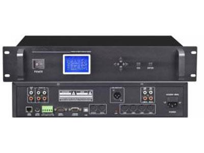 """澳雅声 投票表决视像讨论主机A-9600M """"投票/表决/签到/视像跟踪讨论系统由硬件和软件组成,采用智能数字控制技术,连接电脑具有USB接口,TCP/IP网络接口,WiFi局域网和RS232串口控制等多种选择,支持会场布图、在线检测、会场话筒开启/关闭控制。实现多功能、可脱离电脑且操作简单的新一代全功能数字视频跟踪会议系统,广泛应用于任何规模的大厅、宾馆、银行、公司会议厅及国际大型多种语言会议中心。 ↘支持 WiFi局域网数据交换,实现无线操控中央处理器所有控制功能,给使用和工程安装设备维护带来极大方便性。"""