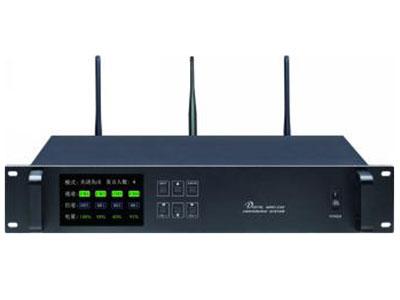 """澳雅声 无线中央处理器A-9108M """"无线数字会议系统汇集了多项先进的设计元素,使安装,操作更具人性化。独特的EQ功能,使音质更易融洽任何场合。  产品采用数字无线处理音频信号和控制信号,无需繁琐的连线。科学的ID编码设计,打开电源即可使用,在信号覆盖的范围内可以任 意移动和支持无限个单元使用。 ↘CPU可以多级纠错和加密扰码,最大限度防止串频干扰和手机电磁干扰  ↘具有先进先出和限制发言和主席发言三种发言模式,同时发言人数1-4人可选(主席1-4人,代表1-4人)  ↘主机大屏幕LCD显示工作内容,分级菜单设计,具有音量调节,发言"""