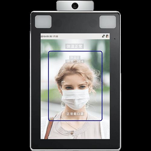 郑州人脸手掌识别测温门禁智能终端TDB08-Plus8寸大屏,门禁考勤 室内使用