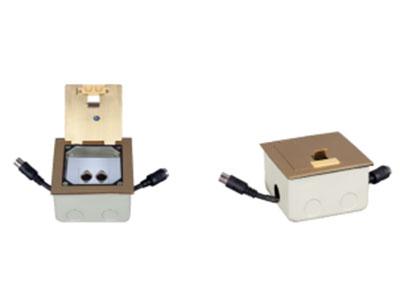 """澳雅声  会议系统地插DA-2T  """"全金属结构,自带输入(公头)和输出(母头)8P电缆线;可无限扩展。翻盖式设计杜绝经常使用出现断线 现象,输出具有两只8P母座输出,可供后级扩展或插话筒单元使用 """""""