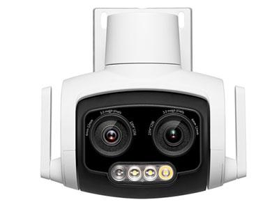 TP-LINK  TL-IPC637  300W像素最高分辨率2304*1296,双目长焦成像模组配合短焦成像模组,实现3倍混合光学变焦;外置3颗白光灯1颗红外灯,支持红外/全彩/移动侦测全彩;支持Wi-Fi/有线连接,联网方式多样;独创分离式支架,支持抱杆/吸顶/壁挂安装;云台转动,水平旋转角度331°,垂直旋转角度120°;IP66级防尘防水,满足室内室外各种应用场景;内置扬声器、麦克风,支持双向语音、声光报警;最高支持256GB Micro SD卡,拥有更长的存储时间;支持onvif协议,可配合NVR使用