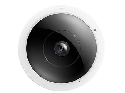 """TP-LINK  TL-IPC55AE """"采用鱼眼镜头,水平、垂直可视角度均为180°;360°全景监视;支持四分屏、180°全景、360°全景等多种预览方式 移动侦测、推送报警、双向语音,支持网口,支持POE供电;支持WIFI热点"""""""