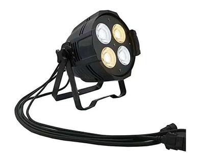 """美辉 小四眼COB面光灯MH-LED200B """"输入电压:AC90-230V/50Hz  功   率:220W  光   源:4颗50瓦科锐灯珠 发光颜色:白光 暖白光 抗电强度:1.5KV  绝缘电阻:>2M,配2线DMX512 和两线电源 显示模式:数码显示 控制信号:DMX512,8CH 控制模式:DMX,主从机,声控,自动 散热系统:高强度风冷 发光角度:15°/25° 控制模式:DMX/主从/自走 DXM通道:8CH通道 安全措施:符合各种安全标准,IP20保护等级,电源线符合CE20/22三级标准"""