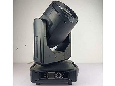 """美辉  295光束灯MH-Bam295A """"光源:原装飞利浦295W灯泡 镇流器:电子镇流器 通道:16控制通道 DMX512接收 LED液晶显示,中英文界面 颜色:1个颜色盘,14个颜色+白光,可半色、可双向流动 图案:1个固定图案盘,14种图案+白光,图案盘可抖动,可双向流动 双棱镜系统:一个8棱镜+一个蜂窝棱镜 可叠加 或 8棱镜+24棱镜 可叠加(二选一) 频闪:机械调光,频闪0"""