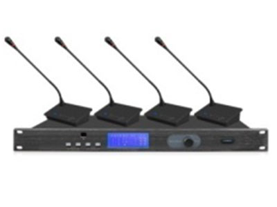 """锐丰  鹅颈会议话筒LH-2004 """"载波频段:UHF620-850MHz 通道数:4通道 调制方式:FM 工作有效距离:60米 振荡方式:PLL相位锁定频率合成 灵敏度:在偏移度等于25KHz  输入6dBv时  S/N>60dB 最大偏移度:±45KHz 综合S/N比:>105dB 综合T.H.D:<0.7\\%     1KHz 综合频率响应:45HZ-18KHz  ±1dB 供电:DC12V-16V  10W 输出插座:XLR平行式及6.3不平行式插座 重量:4.8Kg 尺寸(L*W*H):421x200x"""