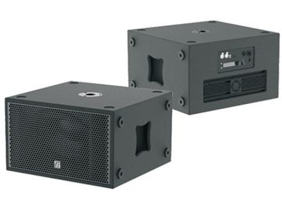 """锐丰  单12寸带DSP有源超低频音箱ML12SA """"系统类型:单12寸带DSP有源超低频音箱 ; 频率响应:40Hz-300Hz(±3dB)/35Hz-350Hz(-10 dB); 灵敏度(1w/1m):96dB; 标称阻抗:8Ω; 额定功率:1000W; 低音单元:12寸低音(100mm音圈); 最大声压级(连续/峰值):125dB/131dB;             连接件:                                   2×Neutrik NL4 Speakon四芯插座(1+1-);  1×Neutrik X"""