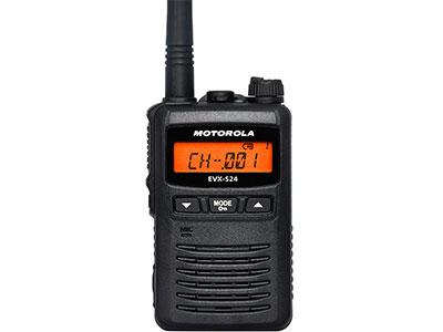 摩托罗拉 EVX-S24小巧的防水便携式数字对讲机
