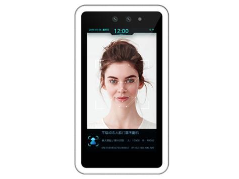芊熠 B54 动态人脸门禁考勤机5寸高清IPS显示屏,人脸识别准确率99.7\\%以上  人脸识别时间小于0.6秒,30000人脸库  支持WIFI、蓝牙功能,金属一体化机身