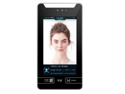 芊熠 DM71 动态人脸门禁对讲机7寸高清显示屏,人脸识别准确率99.7\%以上  识别速度小于0.6s,3万人脸库容量  支持人脸、刷卡、二维码等开门方式