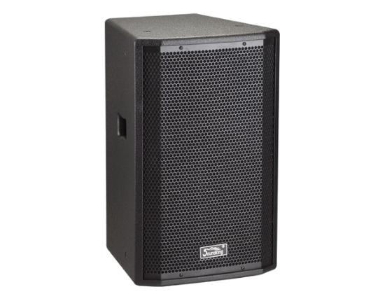 """音王 H08  二分頻8"""" 全頻音箱  頻率響應  75Hz~20kHz (-10dB)   靈敏度(1W@1m)  92 dB  額定阻抗  8Ω    額定功率  150W(連續),600W(峰值)  分頻點  2.7kHz  低音單元  8"""" 中低音 / 50mm音圈  高音單元  PEN膜 / 34mm音圈  覆蓋角(水平x垂直)  90°x40° 最大聲壓級(@1m)  120dB(峰值)    重量  11Kg   箱體尺寸(WxHxD)  268x420x247 (mm)"""