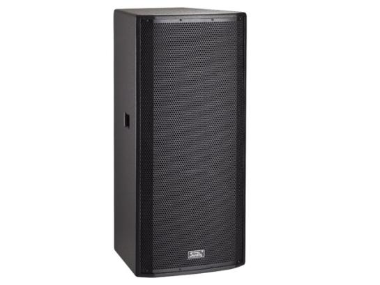 """音王 H215 二分頻2x15"""" 全頻音箱 頻率響應  45Hz~20kHz (-10dB)   靈敏度(1W@1m)  100dB   額定阻抗  4Ω   額定功率  800W(連續),3200W(峰值)   分頻點  1.8kHz   低音單元  2x15"""" 中低音 / 75mm音圈   高音單元  鈦/peek復合膜 / 75mm音圈   覆蓋角(水平x垂直)  80°x60°   最大聲壓級(@1m)  135dB(峰值)   重量  54kg   箱體尺寸(WxHxD)  475x1060x444 (mm)"""