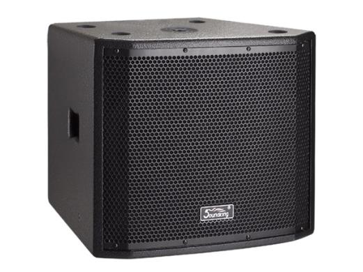 """音王 H18S  18""""Subwoofer 頻率響應  40Hz~150Hz(-10dB)   靈敏度(1W@1m)  97dB   額定阻抗  8Ω   額定功率  600W(continuous), 2400W (peak)   分頻點  /   低音單元  18"""" / 100mm voice coil   最大聲壓級(@1m)  129dB   重量  46kg   箱體尺寸(WxHxD)  572x631x704.4 (mm)"""