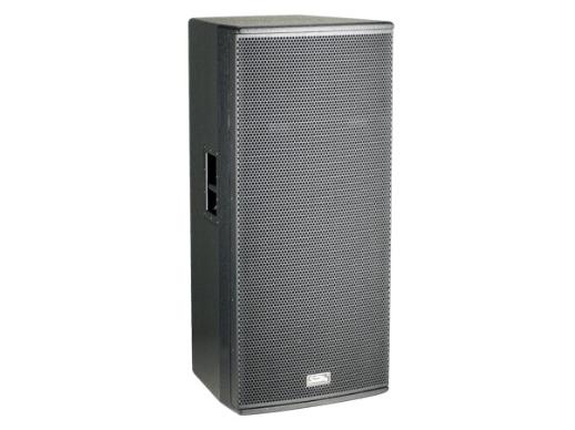 """音王 L215 2X15"""" 兩分頻全頻音箱  頻率響應  43Hz~20kHz(-10dB)    48Hz~18kHz(±3dB)   靈敏度(1W@1m)  99dB   額定阻抗  4Ω   額定功率  1000W(連續),4000W(峰值)   分頻點  1.4kHz   低音單元  2X15""""中低音 / 100mm音圈   高音單元  鈦 / peek復合膜 / 75mm音圈    Voice coil / neodymium magnet   覆蓋角(水平x垂直)  80°X60°   最大聲壓級(@1m)  135"""