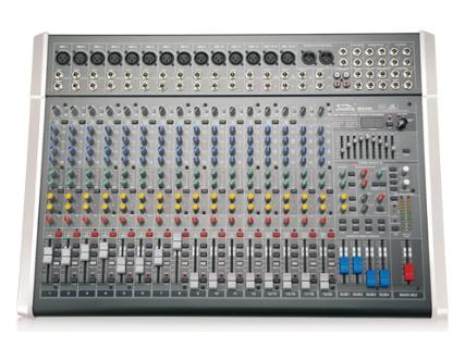 音王 MIX16C MIX系列調音臺 話筒輸入  14    立體聲輸入  4     輔助  4     效果器  100種   單聲道  1     立體左右輸出  2    編組左右輸出  4     增益  70dB(Mic 主輸出)   單聲道均衡器:±15dB  高: 12kHz, 中:800-8kHz(可選), 低:80Hz   立體聲通道均衡器:±15dB  高: 12kHz, 中高:3kHz, 中低:500Hz, 低:  80Hz   頻率響應  (20-20kHz)±1dB   等效底噪  -127