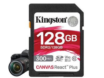 金士顿  U3、4K高清 读:300M/S 写入:260M/S 附赠USB3.0读卡器 64G 128G 256G 512G