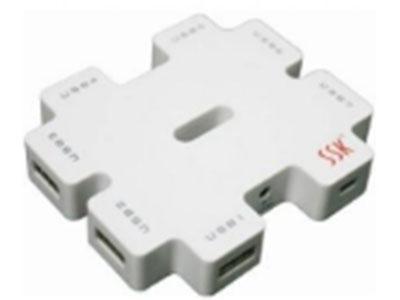 飚王SSK积木HUB 独立供电 USB2.0 7口