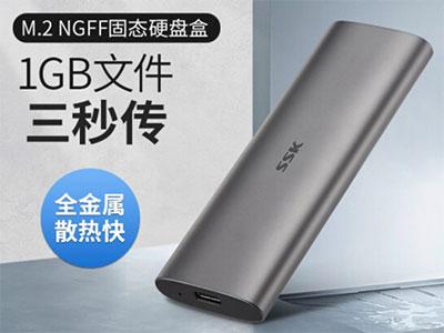 飚王C323 M.2固态移动硬盘  纯金属材质 极速TYPE-C接口