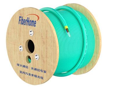 烽火 GJPFJH-4A1a OM3 300 电信级低烟无卤室内万兆多模4芯光缆光纤线