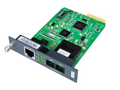 烽火 OL200FR-02B 电信级插卡式光纤收发器光电转换器 百兆单模双纤 SC接口 20公里