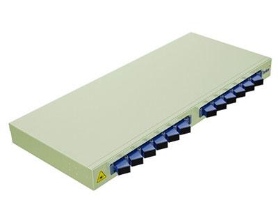 烽火 机架式光纤终端盒 尾纤光缆熔接盒SC/FC/LC接口 通用光纤续接盘配线架 12口SC单模满配12芯
