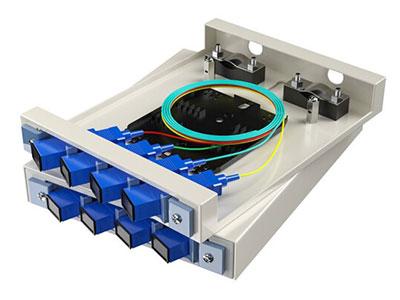 烽火 光纤终端盒 壁挂式尾纤光缆熔接盒SC/FC/LC接口 通用光纤续接盘配线架