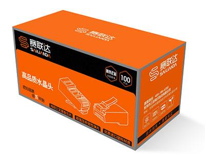 赛联达 LS-60067超六类RJ45非屏蔽镀金      水晶头