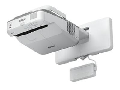 爱普生 CB-695WI 灯泡标准模式10000小时,超短焦60厘米投100英寸,双HDMI接口,内置16W扬声器,带话筒接口,双USB,支持无线,标配交互白板功能,6点手指+2点互动笔灵敏精准互动,5+5延保服务,标配原装吊架。