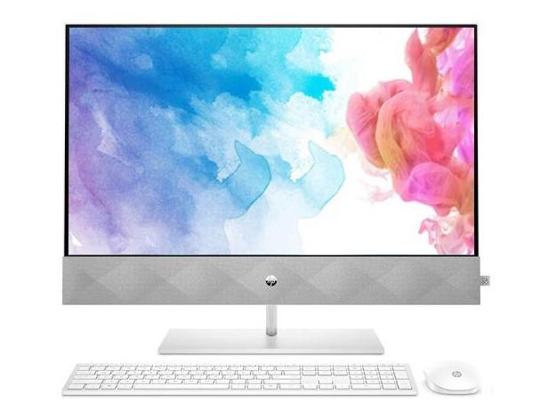 惠普 P27-D054WCN 一体机 i5-10400T/16GB DDR4-2666/2TB+512GB SSD/GTX1650 4GB/-/3 in 1/802.11ac 2x2/BT5/无线/Win10/注册升级3-3-3/White