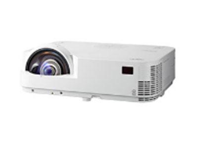 """NEC  M323HS+ """"单片DLP色彩的巅峰, 精准的色温控制, 100\% sRGB色温覆盖 家用机色彩标准 ,支持帧连续、蓝光、上下、左右多种3D格式 ,支持DLP Link 3D技术. 支持Xpand的RF和IR的主动3D系统,  支持 Real D, """"MiniZ""""被动3D系统 ,可以使用被动3D眼镜,U盘直读功能,支持JPEG图片格式, 支持幻灯片功能, 支持桌面(IEU_Lite)和移动端(WIU)的无线投影,全密闭DMD和光学引擎设计以及全新防尘色轮设计,超强防尘、提高图像质量 无过滤网设计"""