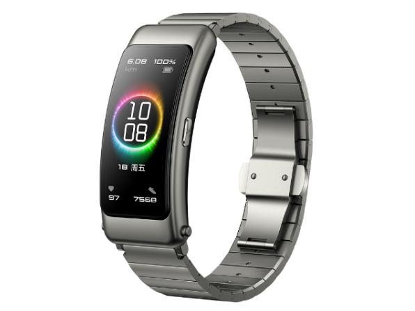 华为手环 B6 尊享版(钛银灰)智能通话手环 3D弧面触控彩屏 心率血氧监测睡眠分