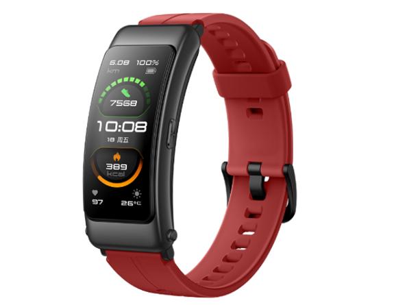 华为手环 B6 运动版(珊瑚红)智能通话手环 3D弧面触控彩屏 心率血氧监测睡眠分析