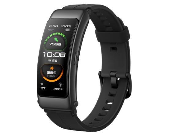 华为手环 B6 运动版(曜石黑)智能通话手环 3D弧面触控彩屏 心率血氧监测睡眠分析