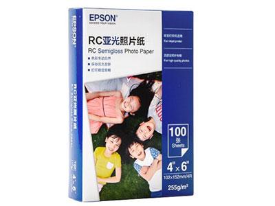 爱普生 S450389 RC亚光照片纸 6英寸/4R/100张 证件照/生活照//照片墙/手账/小报打印