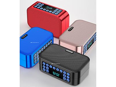 山水 D1 蓝牙免提通话 一键录音 一键删除 数码显示频率 数字选曲 支持播放TF卡、U盘、FM模式 播放时长6个小时