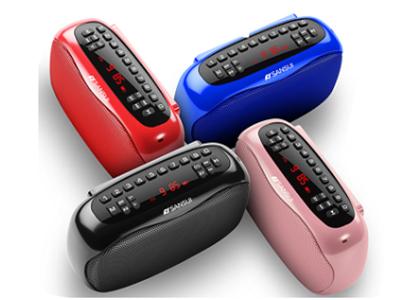 山水 D2 蓝牙免提通话 一键录音 一键删除 数码显示频率 数字选曲 支持播放TF卡、U盘、FM模式 播放时长8个小时